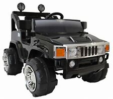 Black RC, Single Seat Hummer style  Ride on Car | 12 Volt, 90 Watts!!