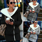Fashion Womens Ladies Plush Fleece Zip Hooded Coat Jacket Outerwear Tops Hoodies