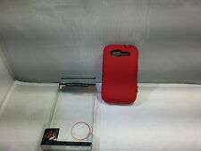 GO HC377 Dual Robot Rubberized Protective Hard Case for HTC Wildfire S Red