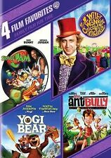 NEW 4 FILM DVD FAMILY WILLY WONKA SPACE JAM ANT BULLY YOGI BEAR FREE 1ST CLS S&H