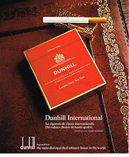 PUBLICITE ADVERTISING 074  1976   DUNHILL  INTERNATIONAL   cigarettes