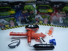 RED ZX9 SPIN FIRE ELECTRIC RAPID SHOT SOFT BALL TOY GUN REPEATING RIFLE RUBBER