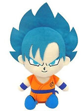 "Bandai Dragon Ball Super Mini Cushion Plush 9"" Super Saiyan Son Goku God Form"