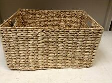 Rectangular Woven Seagrass Storage Organizer Toys Magazine Basket LARGE