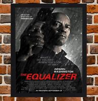 Framed The Equalizer Movie Poster A4 / A3 Size Mounted In Black / White Frame