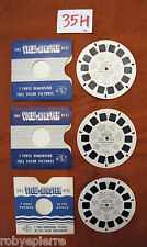 3 dischetti VIEW MASTER 1991 a b c world's fair brussels 1958 BRUXELL BELGIO