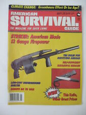 January 1989 AMERICAN SURVIVAL Mag Anti-Terror Self Defense Gun Weapon Trump!