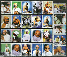 25 Different Gandhi Nehru Tagore Patel of India Se-tenant From 5 Countries Canc.