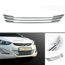 Chrome Front Grille Garnish Molding Cover Trim for HYUNDAI 2014-2016 Elantra MD