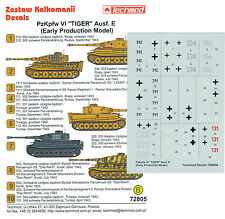 Techmod Decals 1/72 Pz Kpfw VI Tiger I Ausf E (Early)