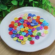 100X Resina Botones Mezclados 2 Ojales Buttons para Costura Manualidades DIY