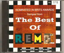 R.E.M - THE BEST OF (4 TRACK NUMBERED UK PROMO ONLY SAMPLER CD)