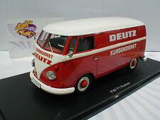 """Schuco 08923 # VW Bus T1b Kasten in rot-weiß """" Deutz Kundendienst """" 1:32 - 30%!!"""