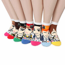 BTS K-pop Star Funny Socks pack of 7pairs MADE IN KOREA  monster NB