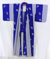 踊り着物 Odori Hitoe Kimono - Kanji - Made in Japan 15406