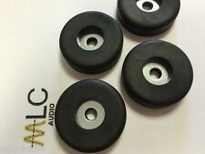 4 x M6 Rubber Cabinet Feet 38mm x 10mm c/w washers.