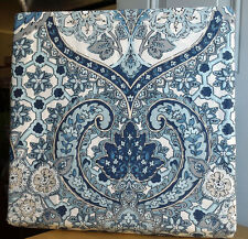 NEW Tahari Blue Moroccan Medallion Damask 3pc KING DUVET COVER Shams Bedding Set