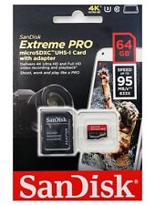 SanDisk Extreme 95MBs MicroSD 4K Ready Memory Card - 64GB 100% AUTHENTIC.