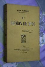 LE DEMON DE MIDI par PAUL BOURGET éd. PLON 1914
