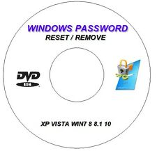 ADMINISTRATOR PASSWORD LOG IN RECOVERY/RESET BOOT CD DVD FOR WINDOWS 7 8 10 PC