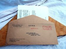 OHMS Letter Posted Envelope 1949 Inaugural Flight Air Mail Vancouver Hong Kong