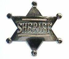 Metal SHERIFF Western Wild West Cowboys & Indians Law Enforcement Badge 25mm New