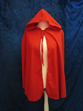 Red Riding Hood Cape One Size Fancy Dress Ladies Womens Fairy Tale Book Day