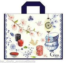 "GIEN, ""TEA-TIME"" LARGE, DURABLE, REUSABLE, COATED CARRY / SHOPPING SAC, NEW"