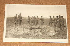 Vintage Postcard: Burial of Two British Soldiers on the Batterfield, Daily Mail