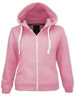 Womens LADIES HOODIE sweatshirt jacket hooded fleece zip PLUS SIZE 6-26 Lot D1