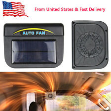 Solar Sun Power Car Auto Fan Air Vent Cool Cooler Ventilation System Radiator