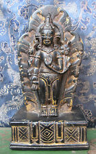 Antique Very Old Black Stone Chenrezig Avalokiteshvara Rupa, Nepal