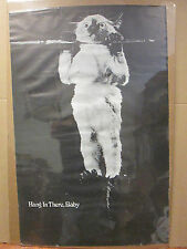 vintage hang in there, baby original poster    5853