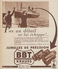 Z8422 Jumelles B.B.T. KRAUSS - Pubblicità d'epoca - 1935 Old advertising