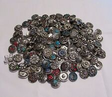 18mm - 20mm Ginger Button Snaps - 10pc Mix Snap Lot - At Wholesale - Fits Ginger