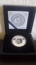 Fiji $1 Silver Proof Coin Filigree 2012 Lunar Year of the Dragon in Wood Box NEW