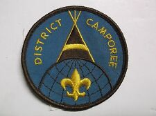 Vintage BOY SCOUTS BSA District Camporee sew on Patch Tee Pee Jamboree