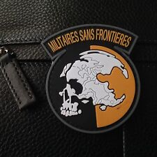 PVC METAL GEAR SOLID MGS PEACE WALKER MILITAIRES SANS FRONTIERES VELCRO PATCH