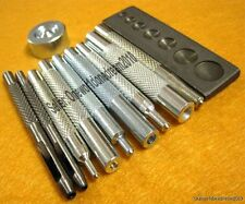 11x Craft Tool Kit Die Punch Snap-All Rivet Setter Base Kit For Leathercraft DIY