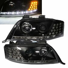 A6/S6 2002-2005 C5 4B Projector LED R8 HEADLIGHT w/Amber Black for AUDI