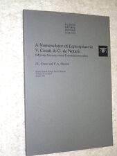 A Nomenclator of Leptosphaera V. Cesati & G. de Notaris (Mycota-Ascomycetes +