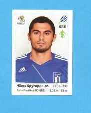 PANINI-EURO 2012-Figurina n.91- SPYROPOULOS - GRECIA -NEW-WHITE BOARD