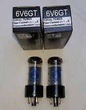 New 2x Electro Harmonix 6V6GT / 6V6 | Matched Pair / Duet / Two | EH Free Ship