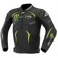 Monster Motorbike Leather Jacket Custom Tailor Made all CE Approved Protections