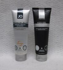 NEW Set 2 Jo Premium Jelly Silicone & H2o Gel Lubricant 4oz Hot Sexy Gift Lube
