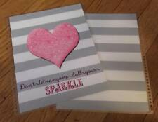 Stripes/Heart Front & Back Cover Set made for use with Erin Condren Life Planner