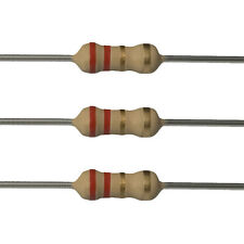 25 x 2.2 Ohm Carbon Film Resistors - 1/4 Watt - 5% - 2R2 - Fast USA Shipping