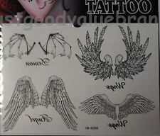 Quality Gothic Angels and Demon's Wings Temporary Tattoo Body Art Waterproof
