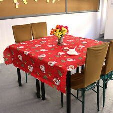 Christmas Santa Claus Tablecloth Red, Christmas Table Decoration,  180 * 150cm
