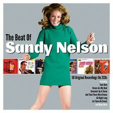 Sandy Nelson THE BEAT OF SANDY Best Of 50 Essential Songs COLLECTION New 2 CD